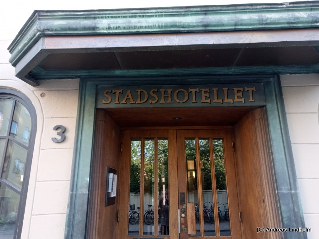 Uppsala Stadshotells skylt